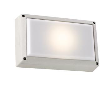Endon Ip44 Outdoor Energy Saving Wall Light Silver El 40036 Sil
