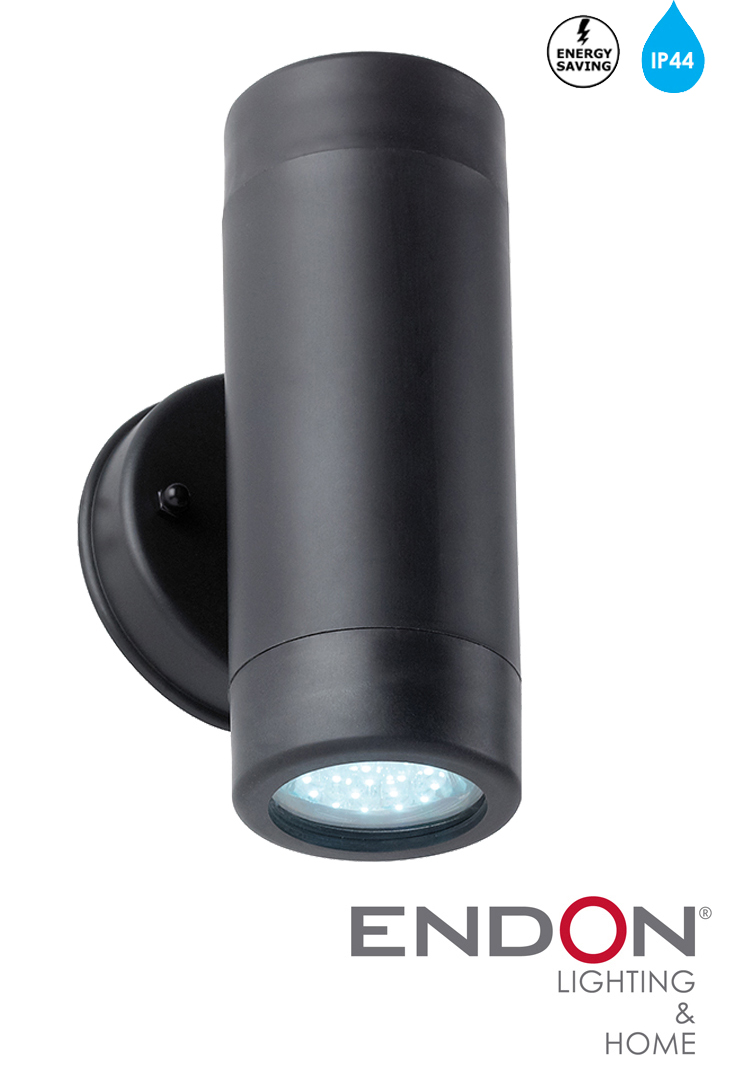 Endon Led Ip44 Black Up Amp Down Outside Wall Light El