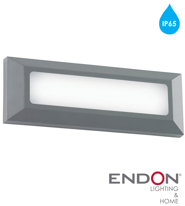 Endon severus ip65 led rectangle outdoor wall light grey abs endon severus ip65 led rectangle outdoor wall light grey abs plastic frosted mozeypictures Gallery