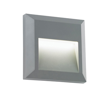 Endon Severus IP65 LED Square Outdoor Downlight Grey ABS Plastic Clear Polycarbonate