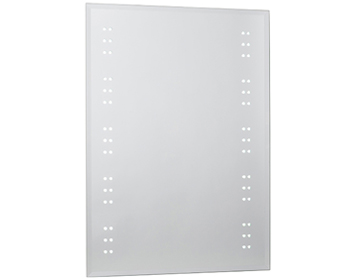 Endon Kastos Mirror, Mirrored Glass & Matt Silver Finish - EL-KASTOS
