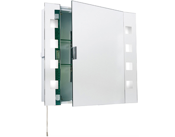 Endon Milos Shaver Cabinet Mirror, Mirrored & Frosted Glass Finish - EL-MILOS