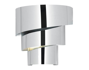 Endon Everett 1 Light Wall Bracket, Chrome Plate Finish - EVERETT-1WBCH
