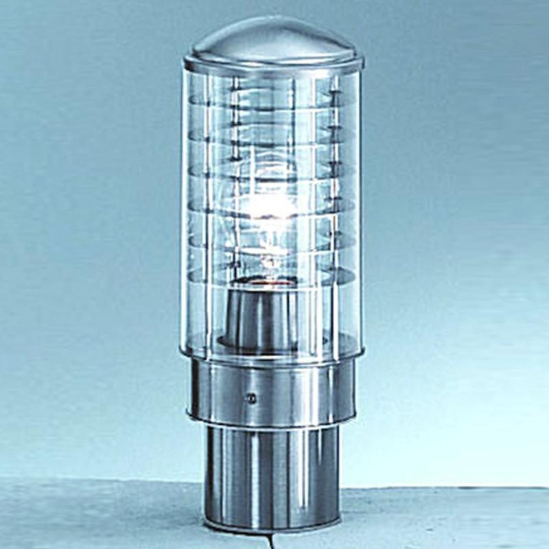 Franklite Terran Exterior Stainless Steel Wood IP44 Pedestal Light EX