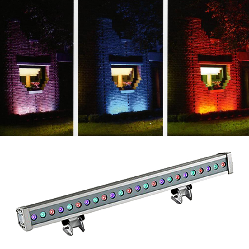 Franklite Exterior Slimline LED 24 RGB Colour Wall Wash Or Floodlight - EXT6577RGB