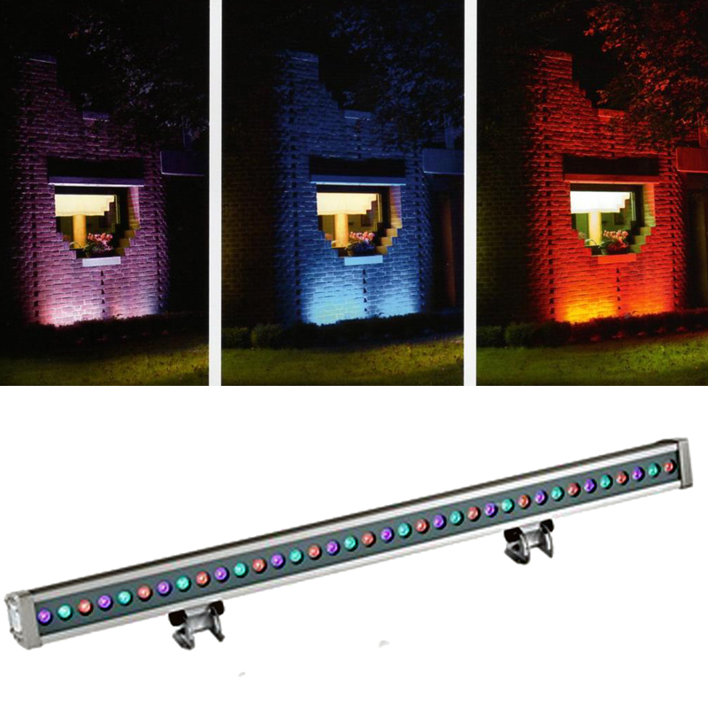Franklite Exterior Slimline 36 LED RGB Colour Wall Wash Or Floodlight - EXT6578RGB