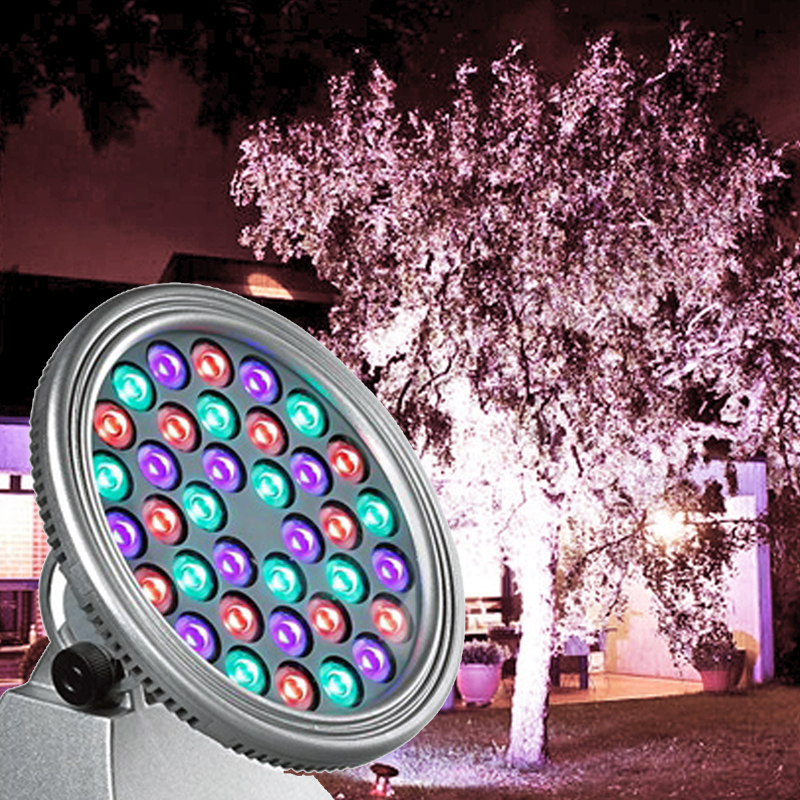 Franklite Exterior Circular LED 36 RGB Colour Wall Wash Or Floodlight - EXT6579RGB