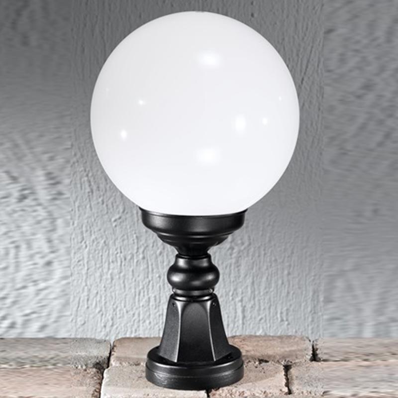 Cheltenham Cast Pedestal Lantern Light Black: Black Outdoor Pedestal Lights From Easy Lighting