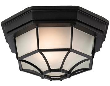 Porch lanterns and ceiling lights from easy lighting firstlight 6 panel flush fitting outdoor ceiling light die cast aluminium black f609bk aloadofball Choice Image