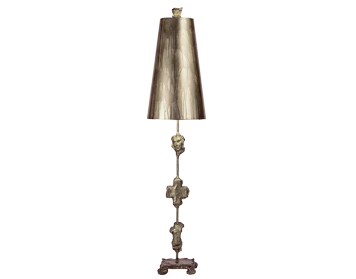 Elstead Fragment 1 Light Table Lamp, Silver Finish With Shade - FB/FRAGMENT-TL-S