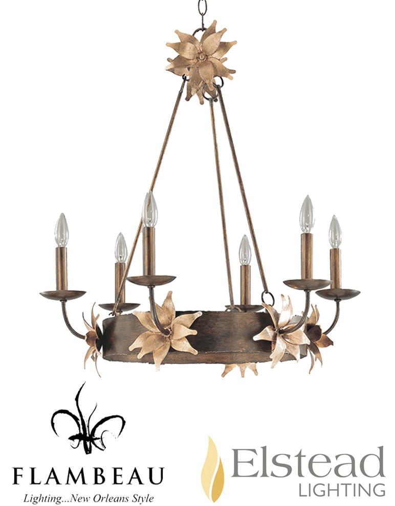 Cora Ceiling Light Bronze 6 Arm : Elstead simone arm ceiling light bronze gold fb