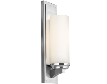 Elstead Feiss Amailia Wall Light, Polished Chrome Finish - FE/AMALIA1/LBATH