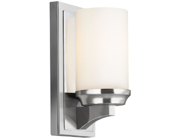 Elstead Feiss Amailia Wall Light, Polished Chrome Finish - FE/AMALIA1/SBATH