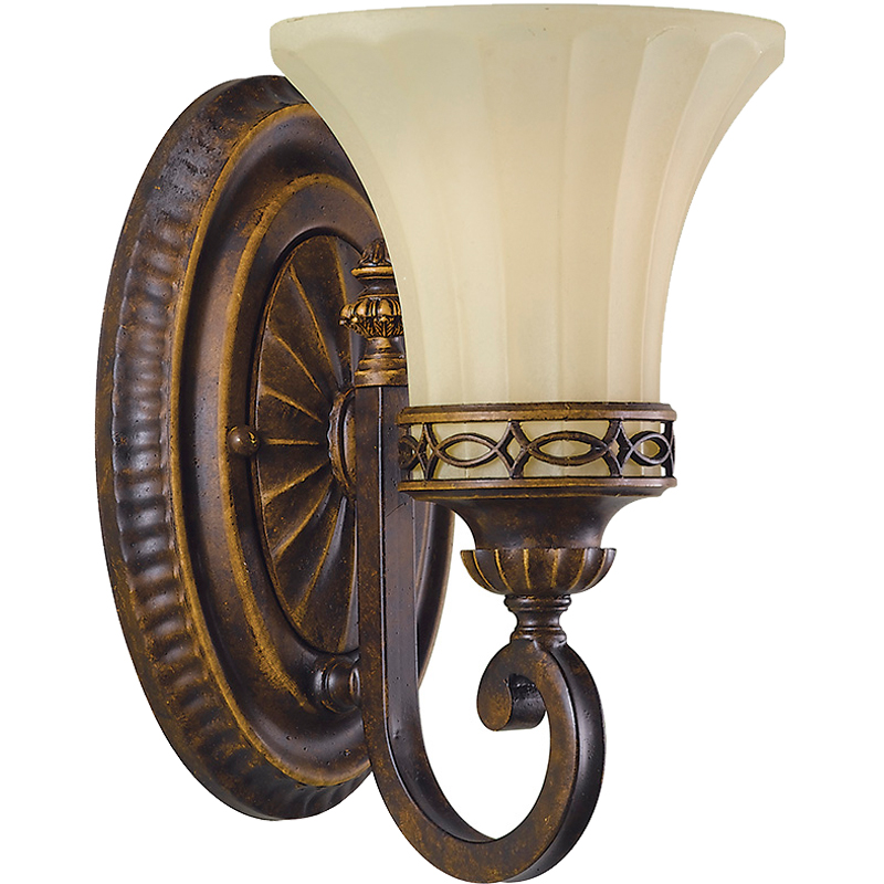 Elstead Feiss Drawing Room Single Wall Light, Walnut Finish - FE/DRAWING RM1