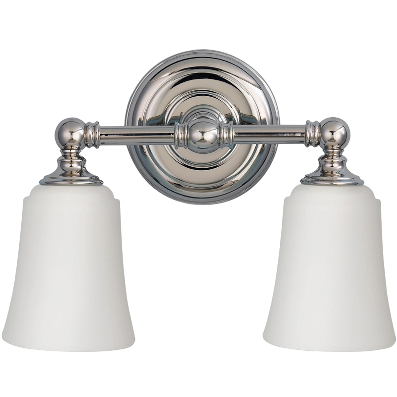 rated bathroom 2 light above mirror light polished chrome fe
