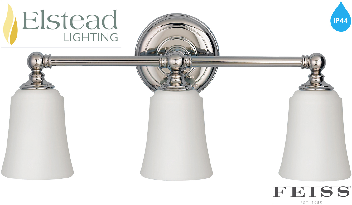 El Nordic Ip44 Mirror With Pull Switch: Elstead Feiss 'Huguenot Lake & Perry' IP44 Rated Bathroom