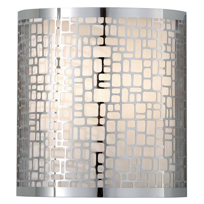 Elstead Feiss Joplin Single Flush Wall Light, Chrome Finish - FE/JOPLIN1