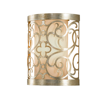 Elstead Feiss Arabesque 1 Light Wall Light, Silver Leaf Patina Finish - FE/ARABESQUE1