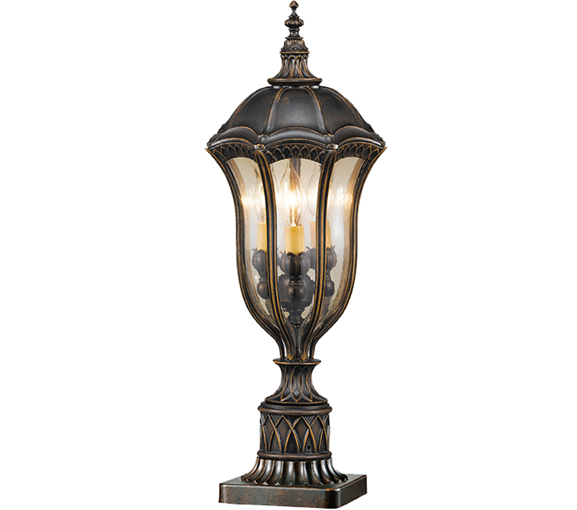 Baton Rouge Outdoor Pedestal Lantern By Feiss