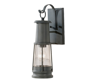 Elstead - Chelsea Harbor IP44 Outdoor Lantern With Clear Seeded Glass, Storm Cloud - FE/CHELSEAHBR2