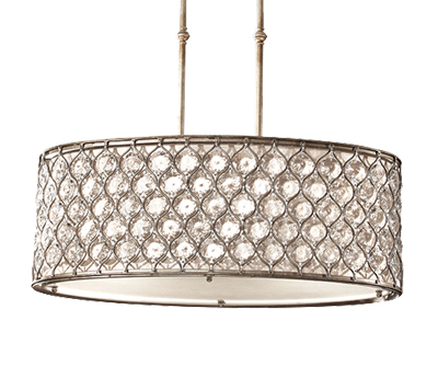 Elstead feiss lucia 3 light semi flush ceiling light with beige elstead feiss lucia 3 light shade pendant with cream fabric burnished silver fe aloadofball Image collections