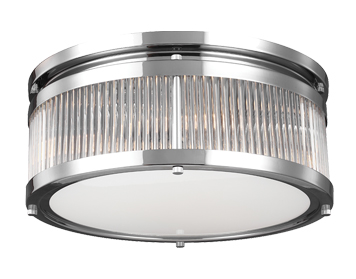 Elstead Feiss Paulson 4 Light Flush Ceiling Light, Polished Chrome Finish - FE/PAULSON/F/M