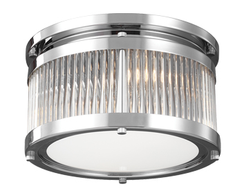 Elstead Feiss Paulson 3 Light Flush Ceiling Light, Polished Chrome Finish - FE/PAULSON/F/S