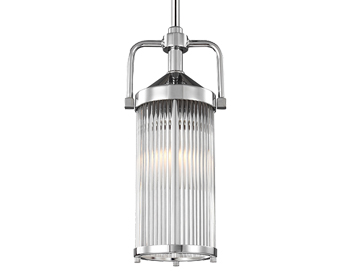 Elstead Feiss Paulson 2 Light Mini Pendant, Polished Chrome Finish - FE/PAULSON/MP