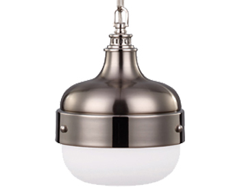 Elstead Feiss Cadence Mini Pendant, Polished Nickel/Brushed Steel - FE/CADENCE/1P BS