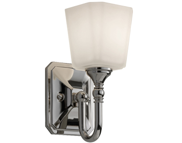 Elstead Feiss Concord Bathroom Wall Light, Polished Chrome - FE/CONCORD1 BATH
