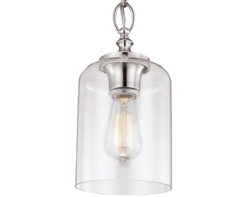 Elstead Feiss Hounslow Ceiling Pendant, Polished Nickel - FE/HOUNSLOW/P PN
