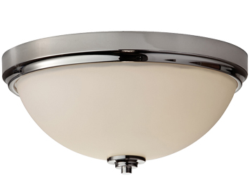Elstead Feiss Malibu Bathroom Flush Ceiling Light, Polished Chrome - FE/MALIBU/F BATH