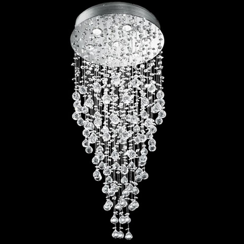 Franklite Constellation 7 Light Flush 1100mm Long 24 Lead Crystal Chrome Ceiling