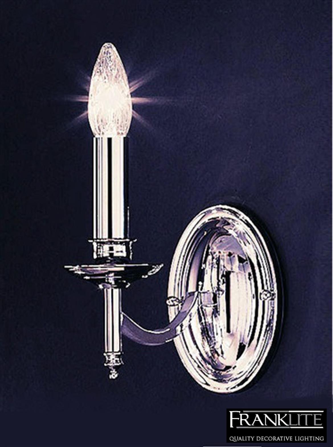 Franklite Petrushka Polished Chrome Finish Single Wall Light - FL2090/1 from Easy Lighting