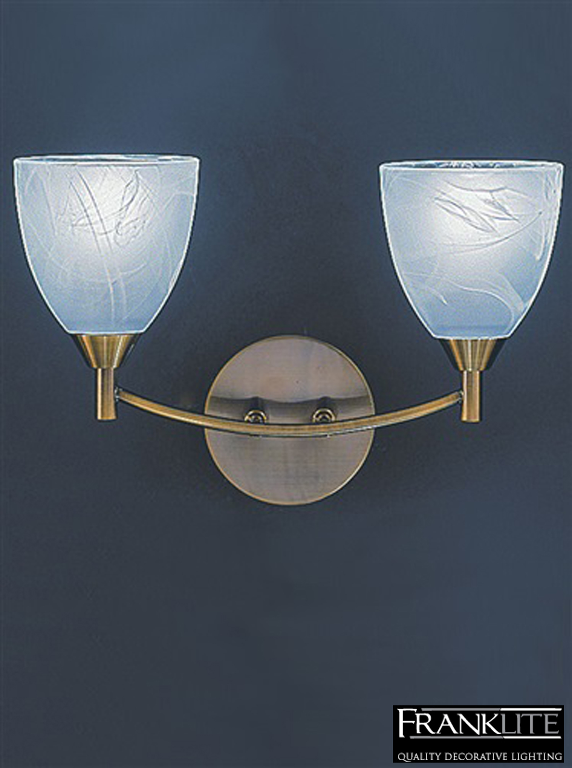 Wall Lights Glass Shades : FRANKLITE EMMY BRONZE FINISH & ALABASTER GLASS SHADES, DOUBLE WALL LIGHT - FL2105/2 from Easy ...