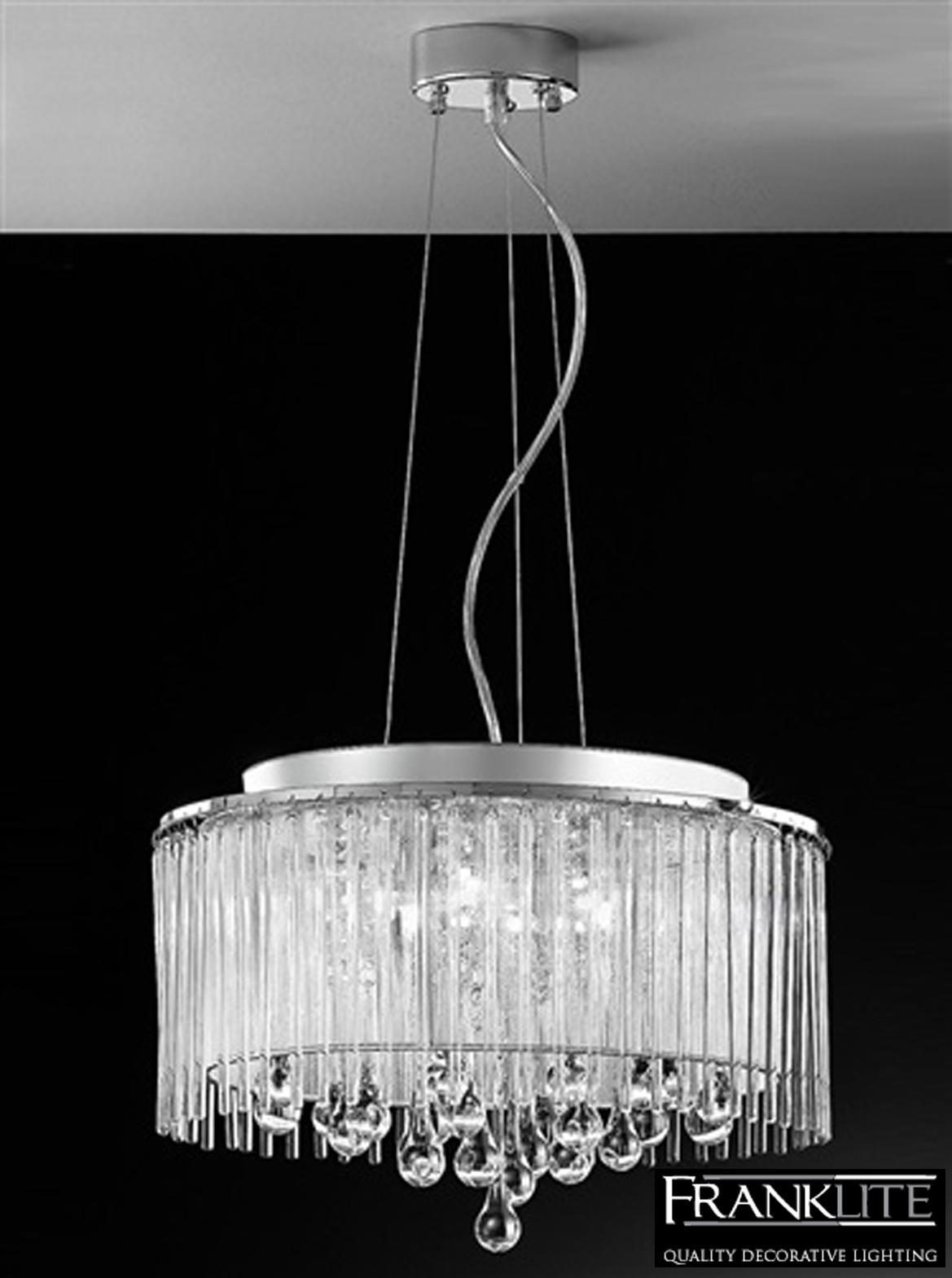 Franklite Spirit 6 Light Crystal Amp Chrome Pendant Ceiling Fitting Fl2161 6 From Easy Lighting