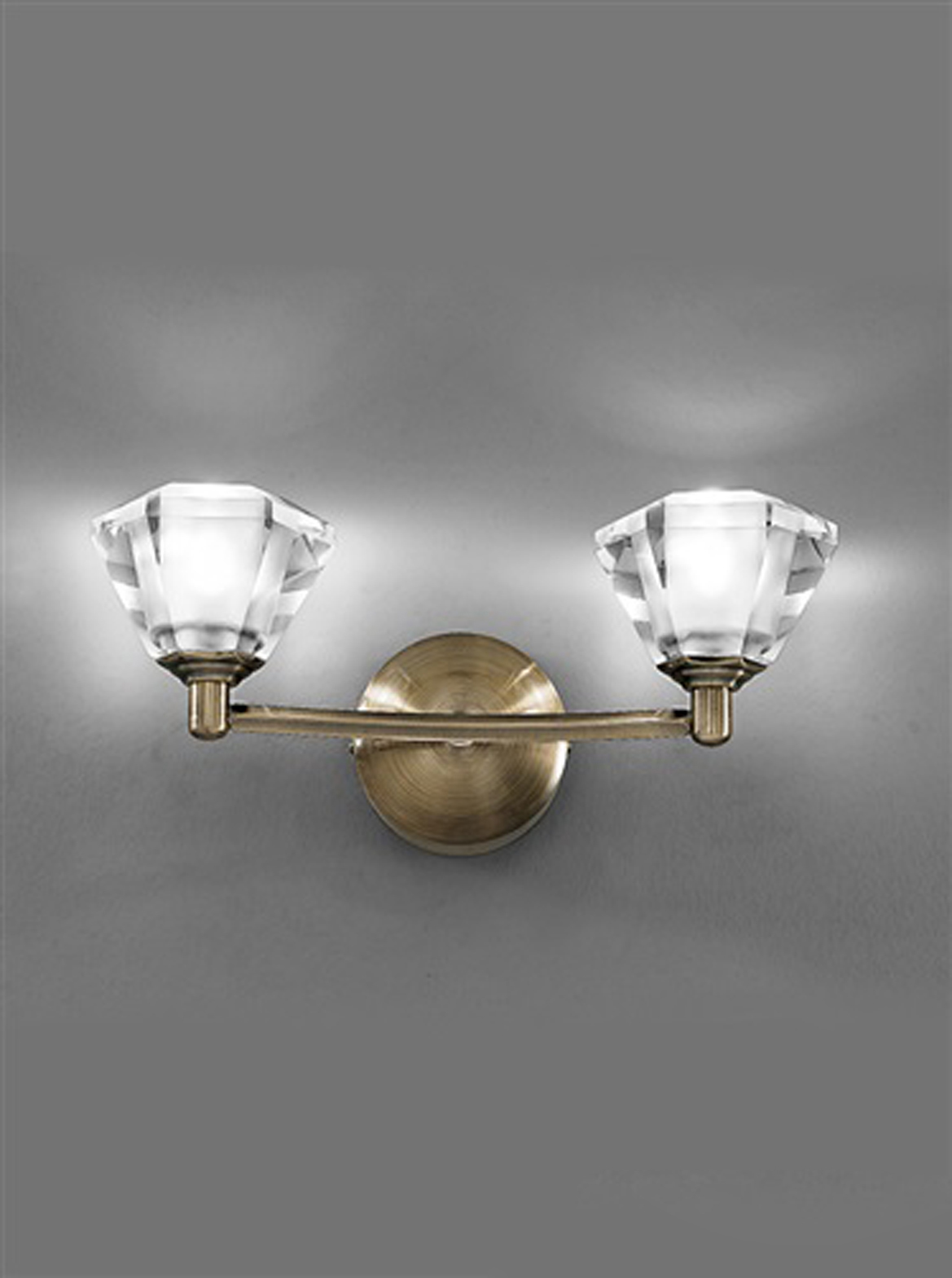 Franklite Crystal Wall Lights : Franklite Twista Bronze & Crystal, 2 Light Wall Fitting - FL2163/2 from Easy Lighting