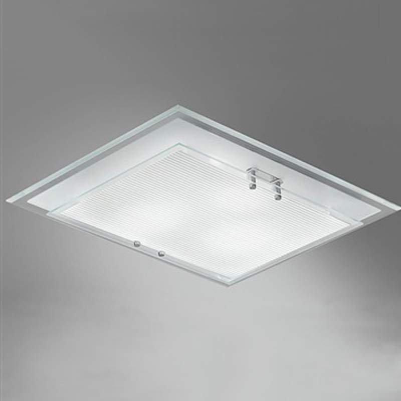 Franklite Small Frosted Glass With Chrome Finish