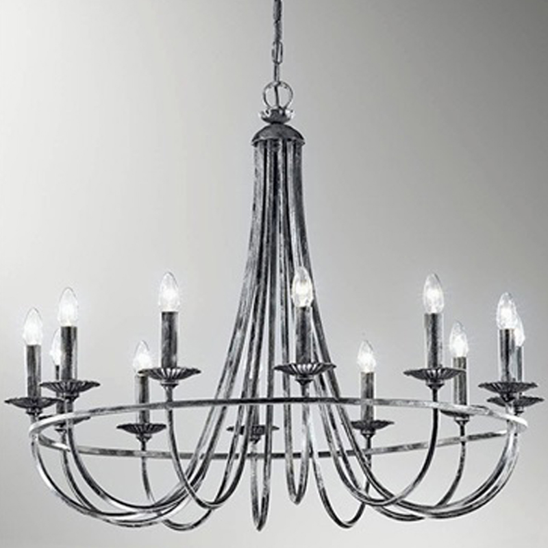 Ironworks ceiling lights from easy lighting franklite cawdor black iron silver 12 light ceiling fitting fl222412 aloadofball Gallery