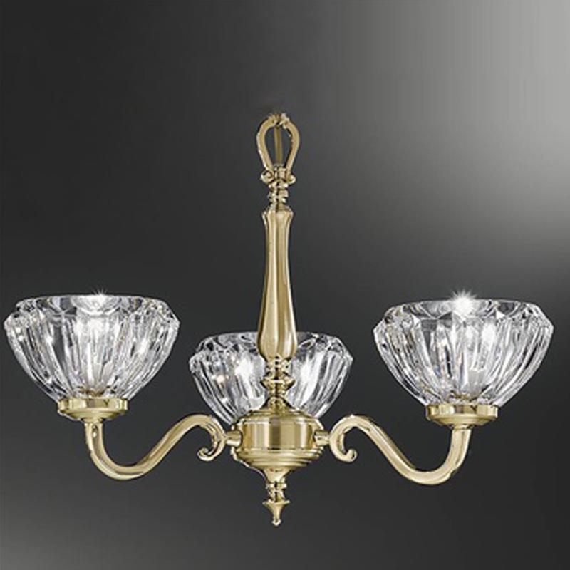 Franklite Castilla Satin Polished Brass Finish 6 Light Ceiling Fitting