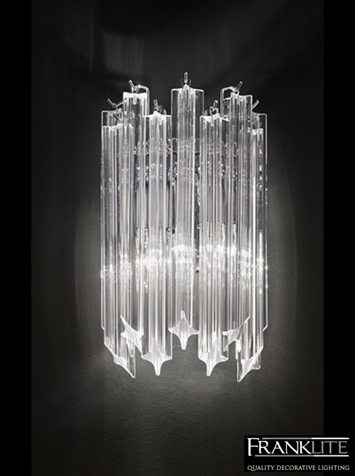 Franklite Crystal Wall Lights : Franklite Valentina Crystal & Chrome Twin Wall Light - FL2266/2 from Easy Lighting