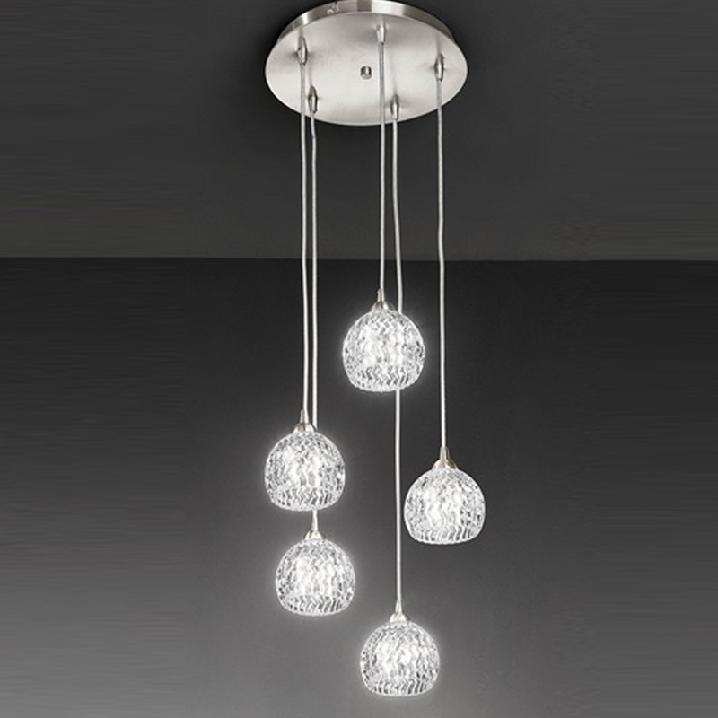 Multiple lamp pendants from easy lighting franklite tierney 5 light pendant ceiling fixture satin nickel fl23015 aloadofball Images