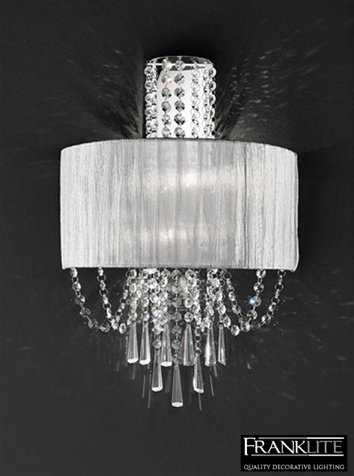 Franklite Crystal Wall Lights : Franklite Empress Crystal And Chrome Twin Wall Light - FL2303/2 from Easy Lighting
