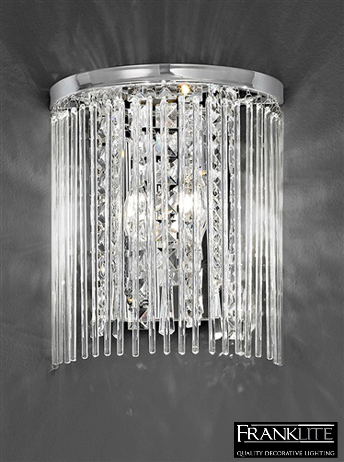 franklite charisma chrome crystal twin wall light fl2310 2 from