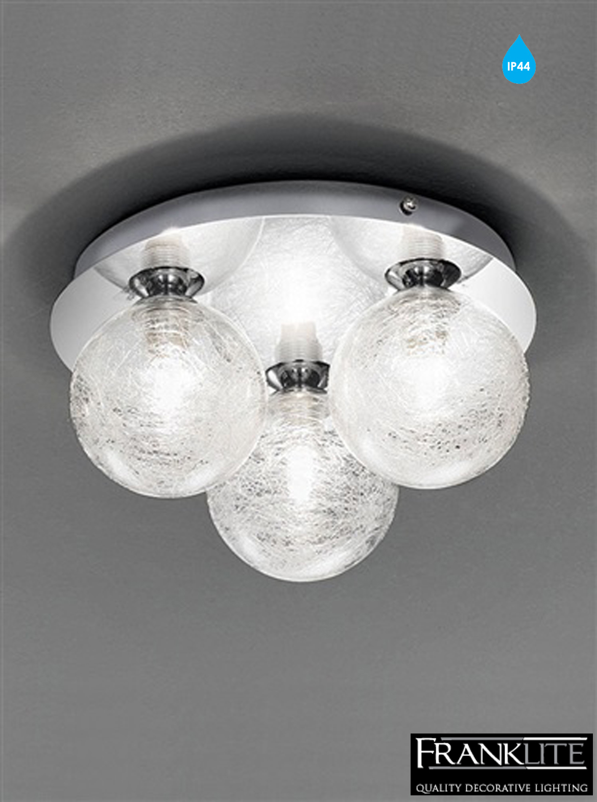bathroom light fittings uk franklite glass amp chrome circular 3 light ip44 bathroom 16067