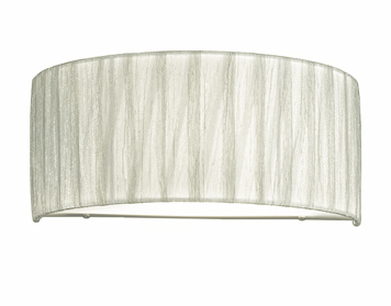 Franklite Desire 1 Light Single Wall Light, Satin Nickel Finish With Translucent Textured Cream Fabric Shade - FL2341/1