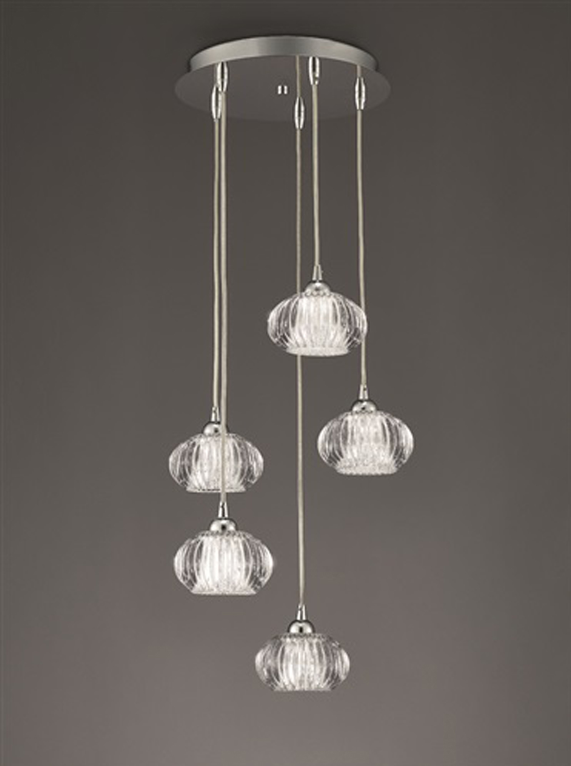 Franklite 39 Tizzy 39 5 Light Ceiling Pendant Chrome FL2344 5 From Easy