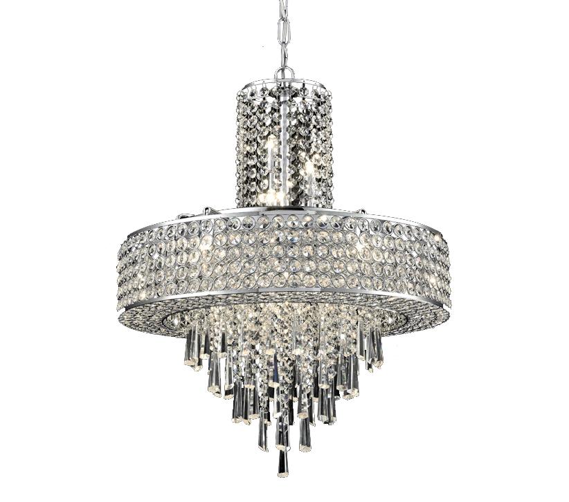 Franklite Fl2382 12 Duchess 12 Light Pendant Fitting: Franklite Duchess 12 Light Ceiling Pendant, Chrome Finish