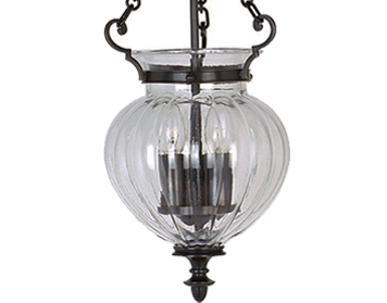 Elstead Finsbury Park Small Ceiling Lantern, Old Bronze - FP/P/SOLDBRZ