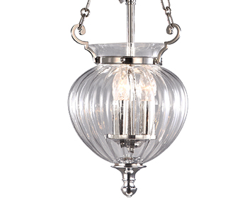 Elstead Finsbury Park Small Ceiling Lantern, Polished Nickel - FP/P/SPOLNCKL
